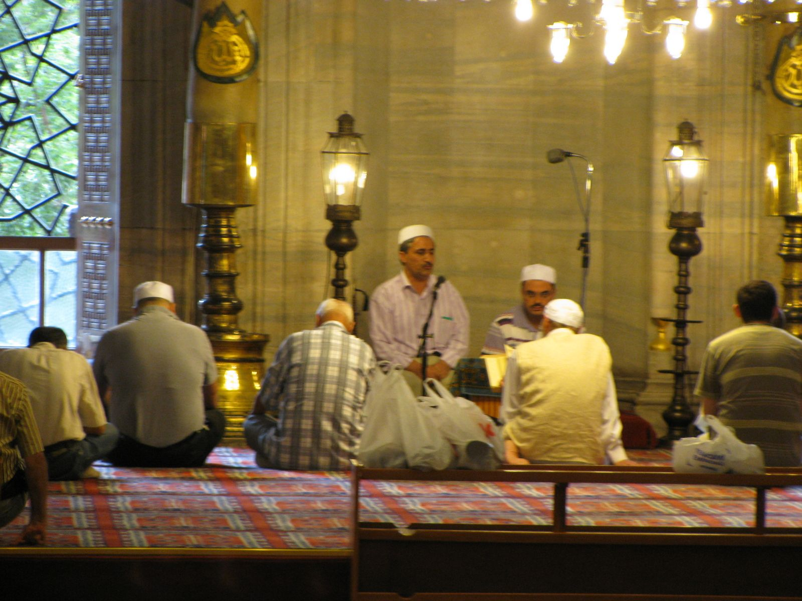 Muslims studying in a mosque